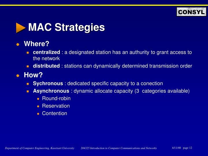MAC Strategies