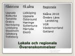 lokala och regionala verenskommelser