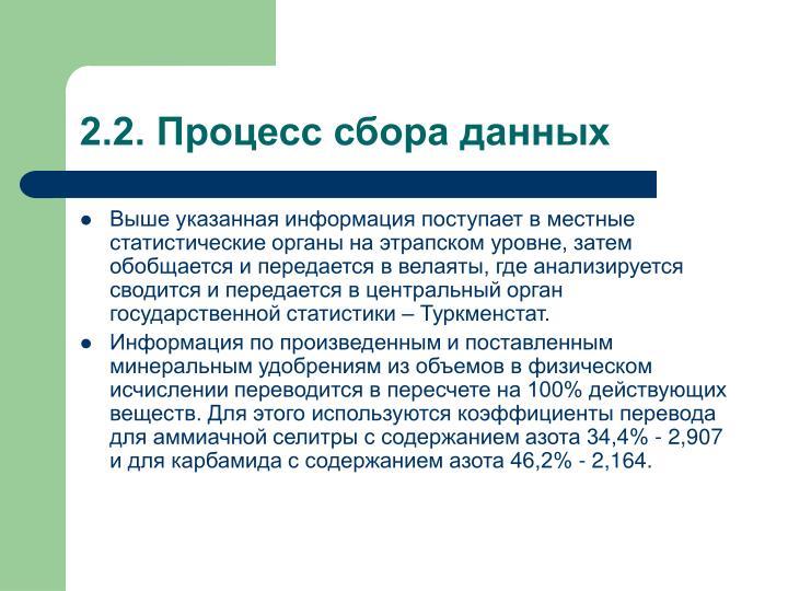 2.2. Процесс сбора данных