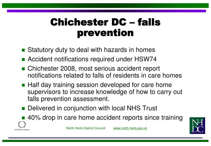 Chichester DC – falls prevention