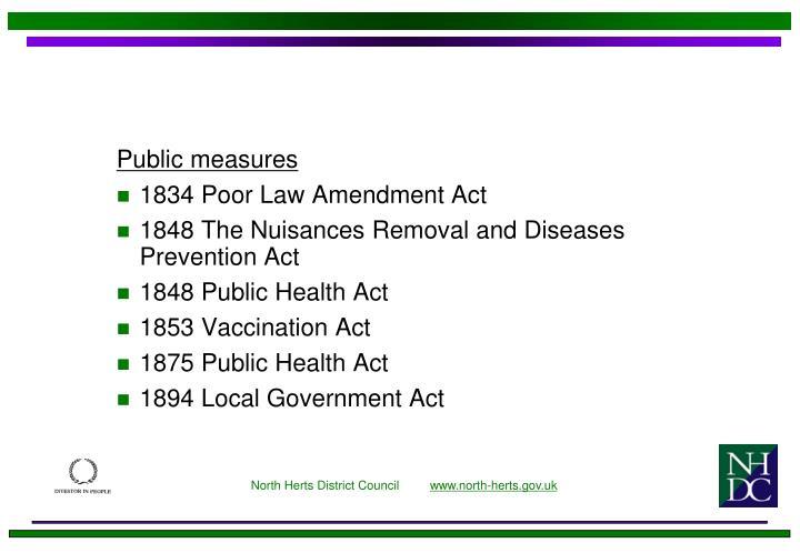 Public measures