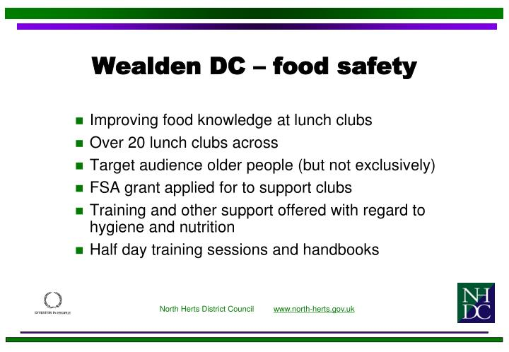 Wealden DC – food safety