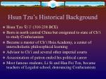hsun tzu s historical background