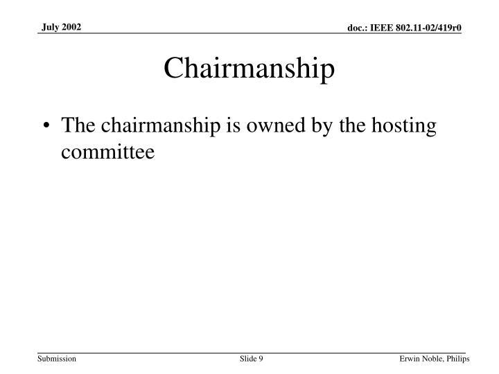 Chairmanship