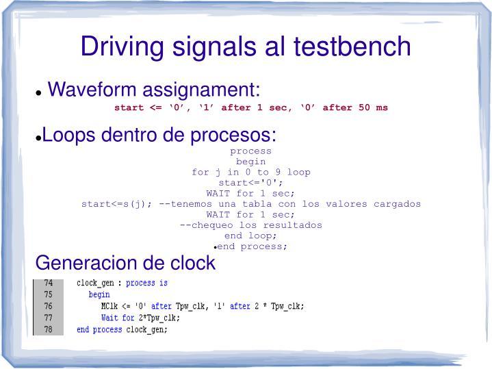 Waveform assignament: