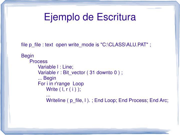 "file p_file : text  open write_mode is ""C:\CLASS\ALU.PAT"" ;"