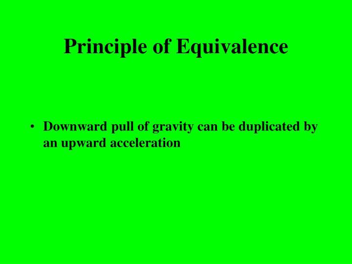 Principle of Equivalence