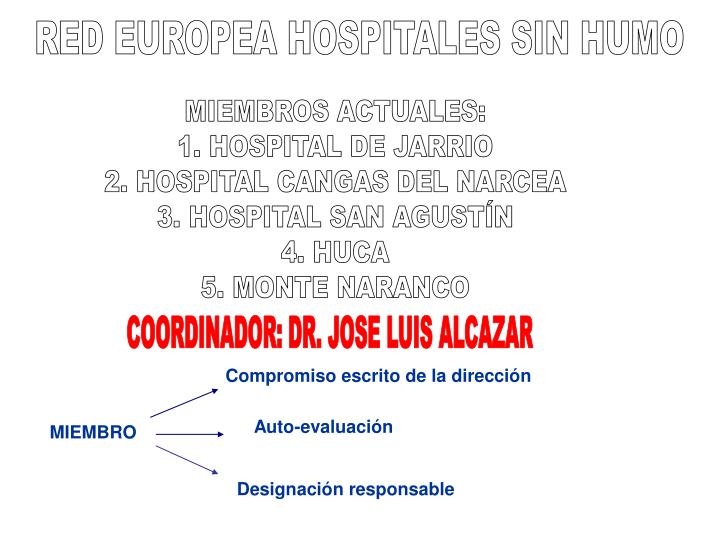 RED EUROPEA HOSPITALES SIN HUMO