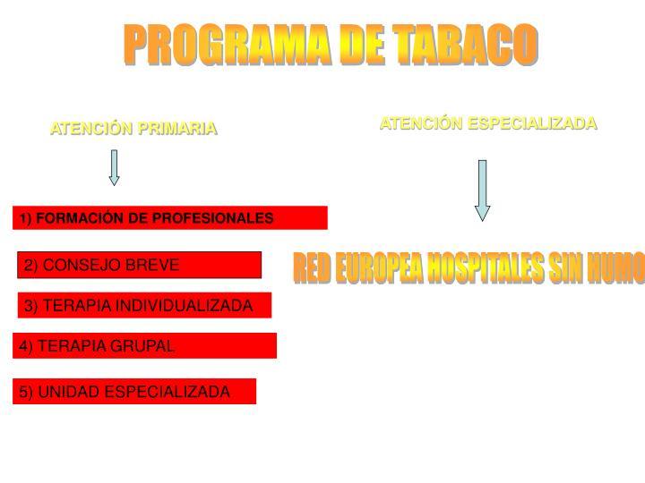PROGRAMA DE TABACO