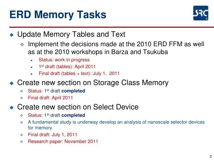 ERD Memory Tasks