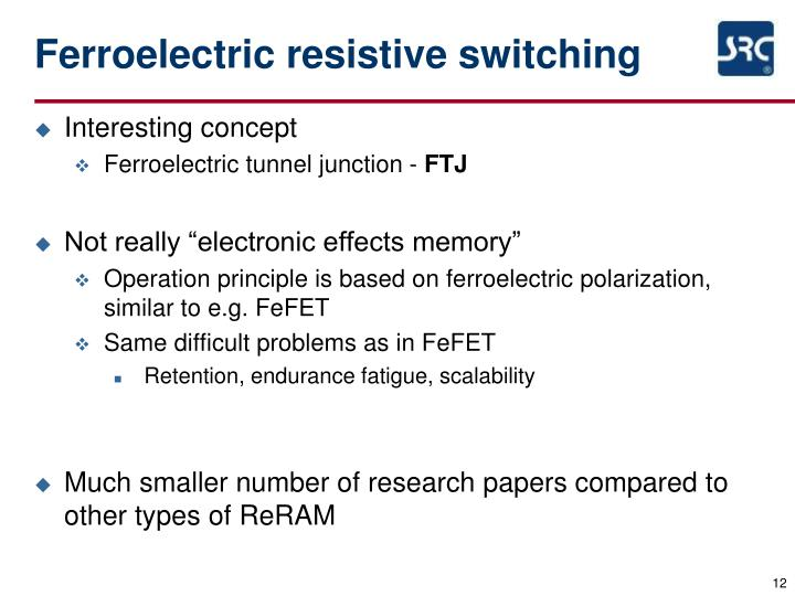 Ferroelectric resistive switching