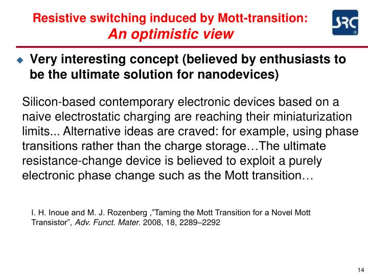 Resistive switching induced by Mott-transition: