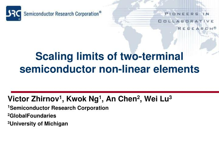 Scaling limits of two-terminal semiconductor non-linear elements
