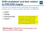 scm candidates 2 and their relation to itrs erd chapter