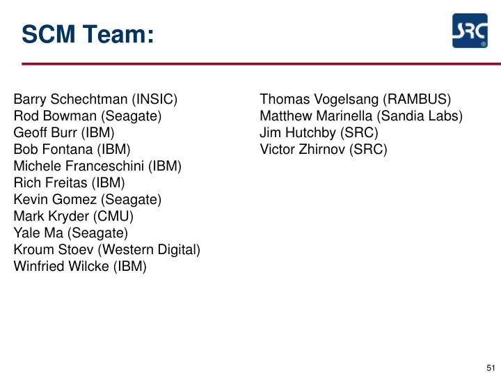 SCM Team: