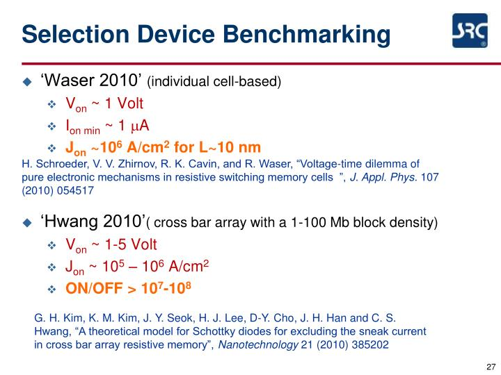 Selection Device Benchmarking