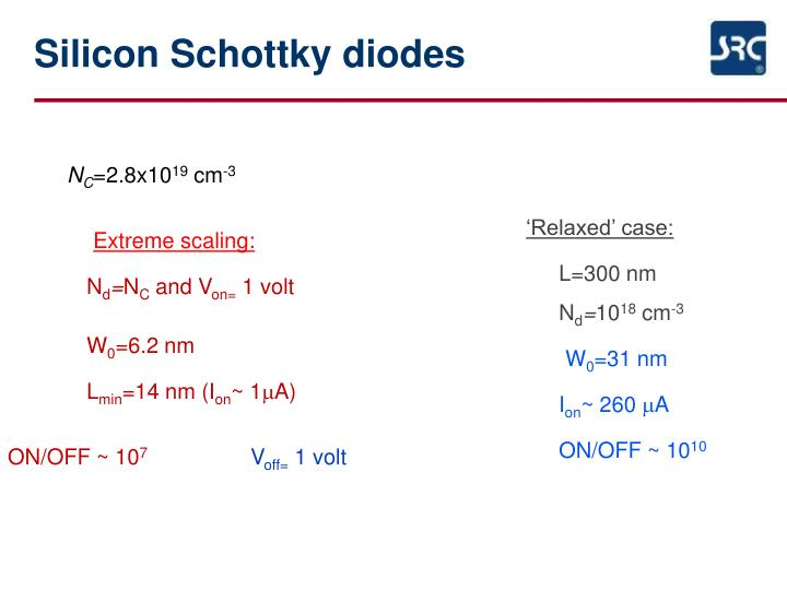Silicon Schottky diodes