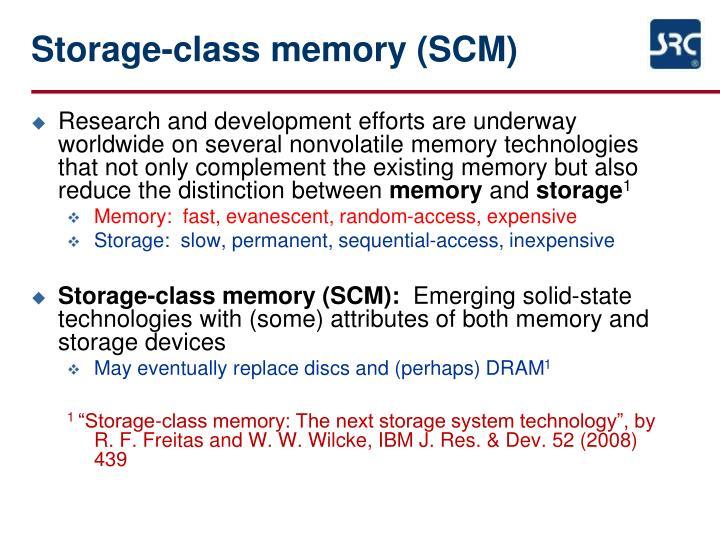Storage-class memory (SCM)