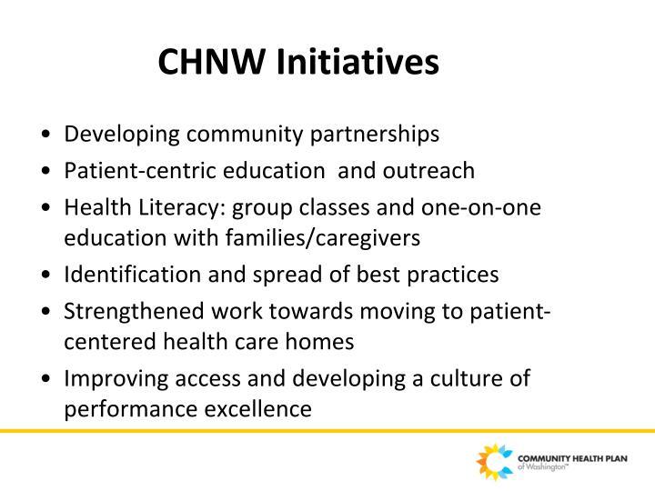 CHNW Initiatives