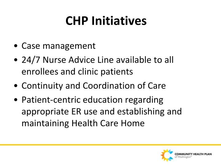 CHP Initiatives