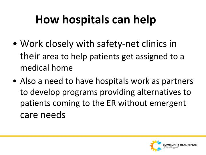 How hospitals can help
