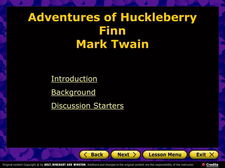 Mark twain writing style in huckleberry finn