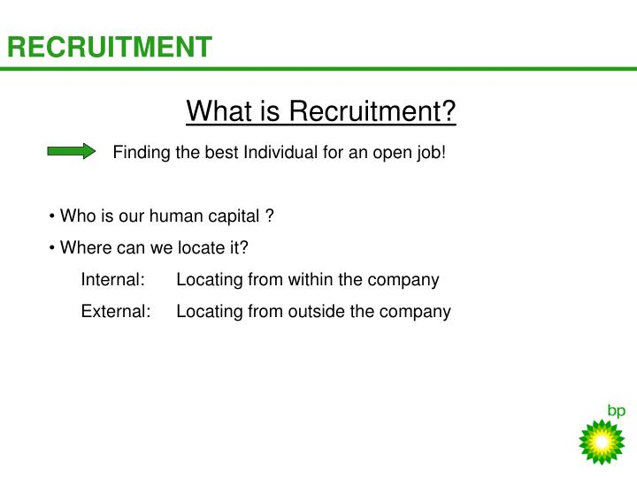 What is Recruitment?