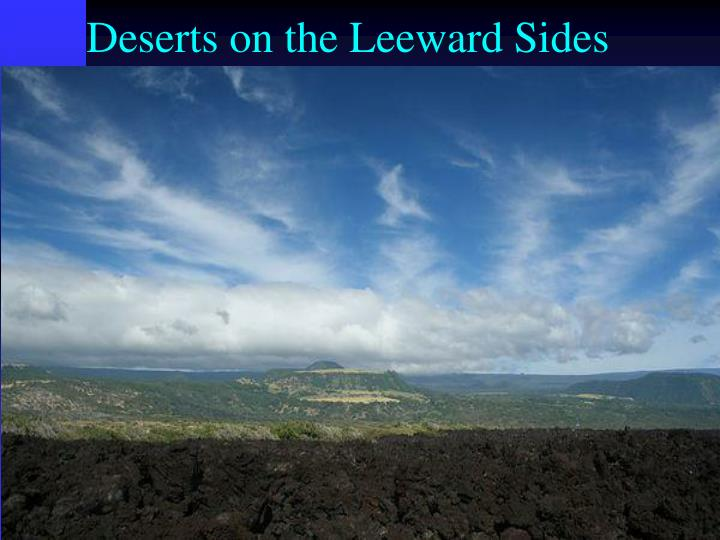 Deserts on the Leeward Sides