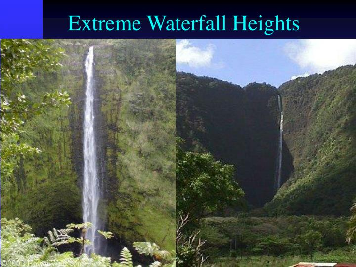 Extreme Waterfall Heights