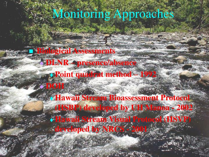 Monitoring Approaches