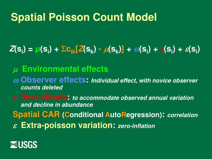 Spatial Poisson Count Model