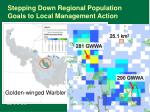 stepping down regional population goals to local management action