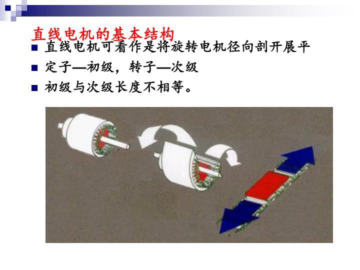 直线电机的基本结构
