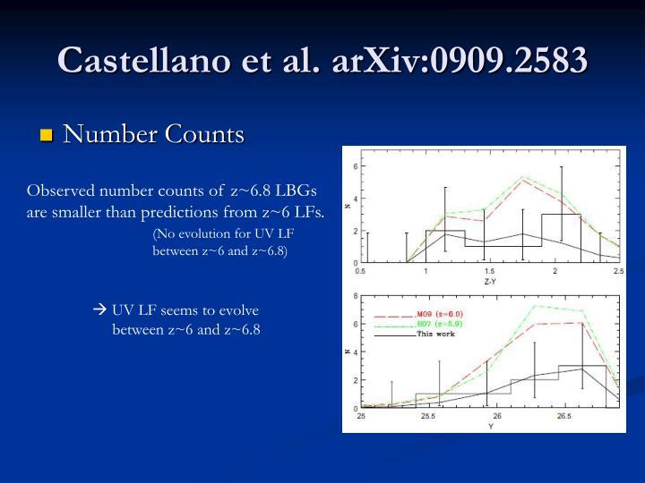 Castellano et al. arXiv:0909.2583