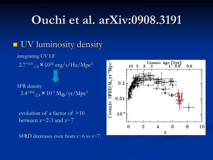 Ouchi et al. arXiv:0908.3191