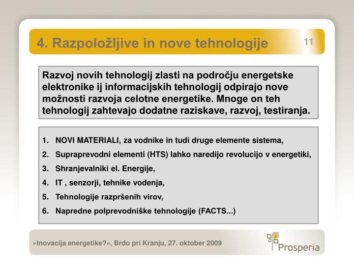 4. Razpoložljive in nove tehnologije