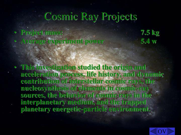 Cosmic Ray Projects