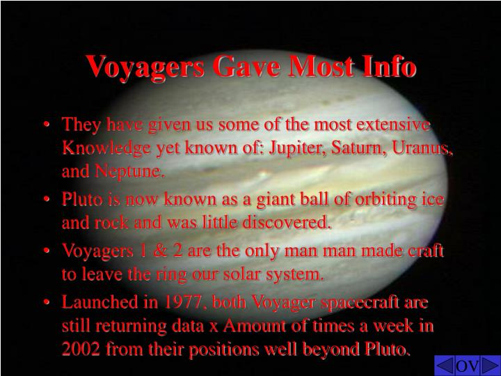 Voyagers Gave Most Info