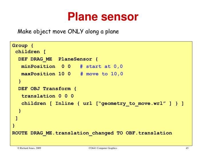 Plane sensor