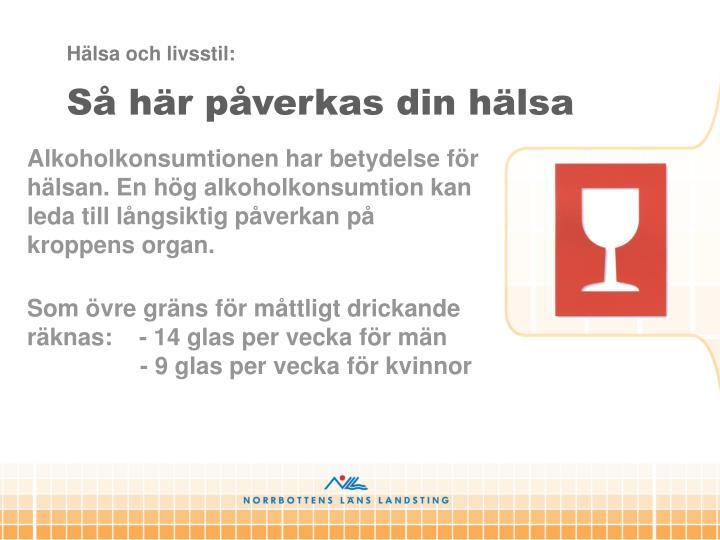 Hälsa och livsstil:
