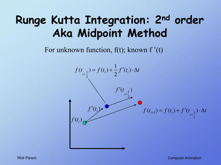 Runge Kutta Integration: 2