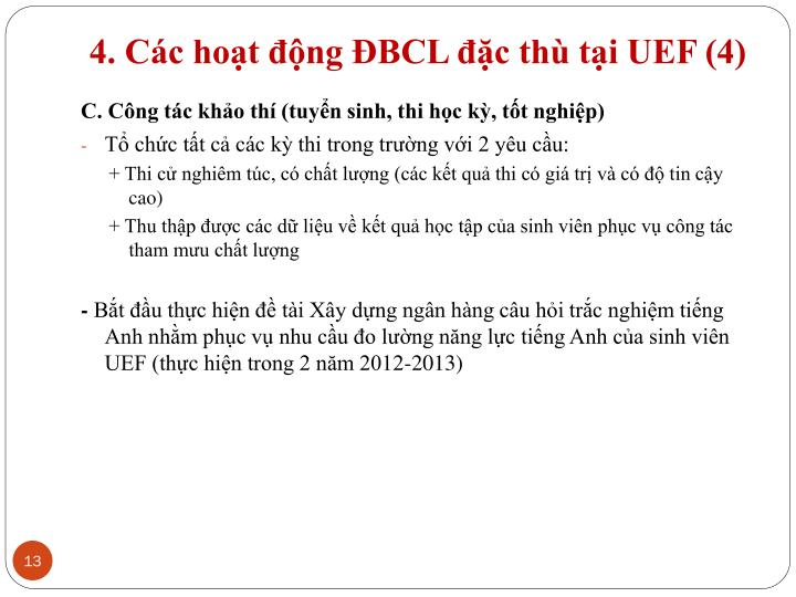 4. Các hoạt động ĐBCL đặc thù tại UEF (4)