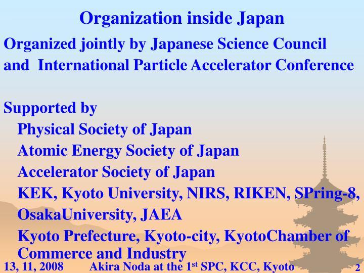 Organization inside Japan