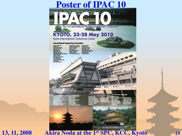 Poster of IPAC 10