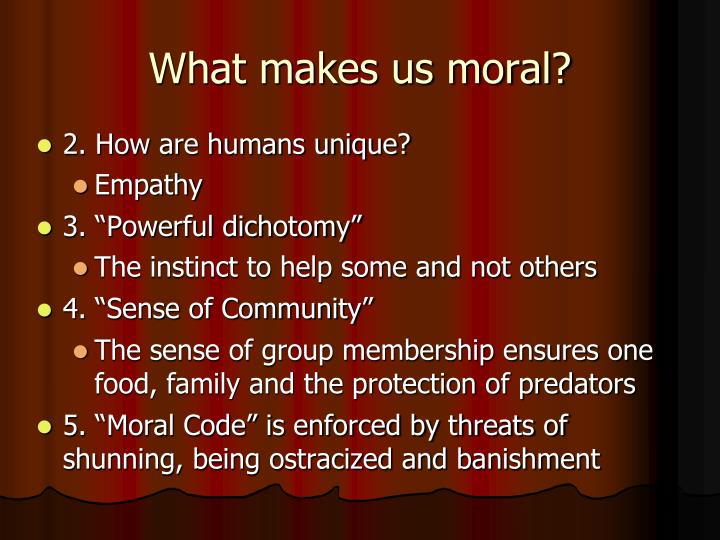 what makes us moral Musschenga, b 2013, what makes us moral an introduction in b musschenga & a van harskamp (eds), what makes us moral.
