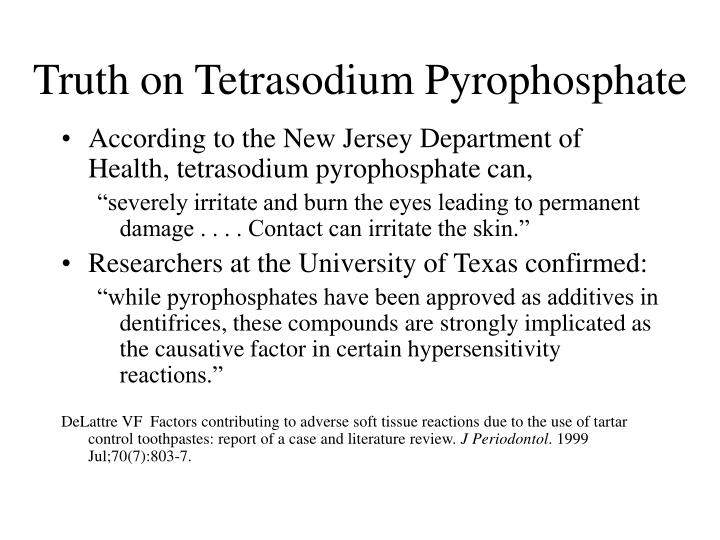 Truth on Tetrasodium Pyrophosphate