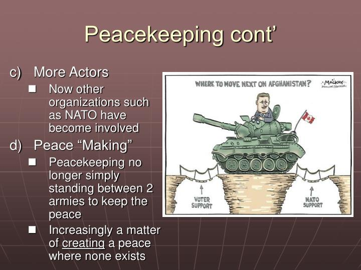 Peacekeeping cont'