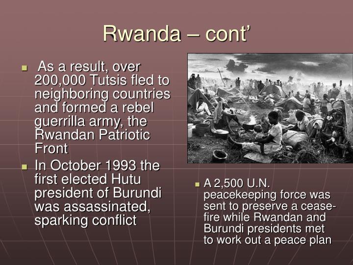 Rwanda – cont'