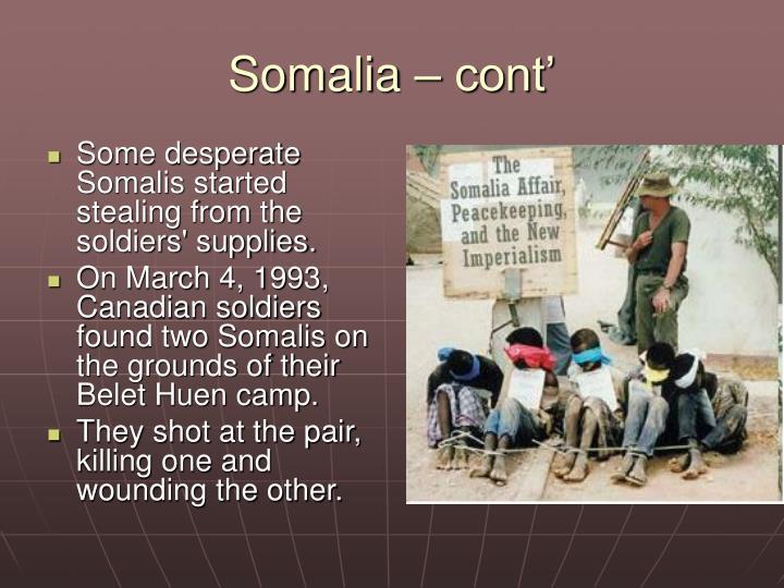 Somalia – cont'