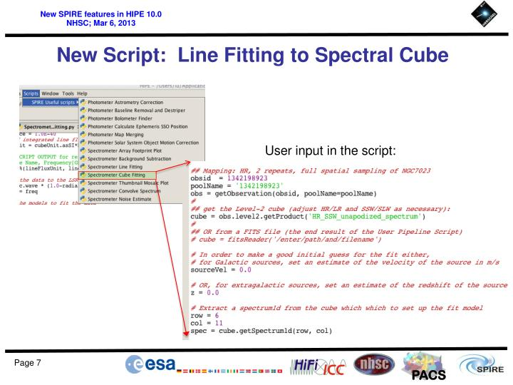 New Script:  Line Fitting to Spectral Cube